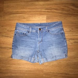 Light blue jean shorts from Faded Glory